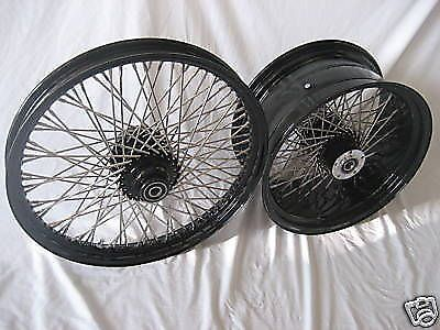 "Find 21"" X 2.15"" & 18"" X 4.25""-60 SPK WHEELS HARLEY BLACK POWDERCOATED FXSTB motorcycle in Huntington Beach, California, United States, for US $799.99"
