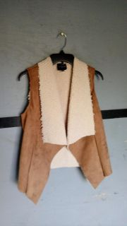 Faux suede & sherpa vest from The Limited. Size XS/S