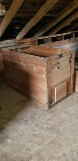 Old Wooden Shipping Box
