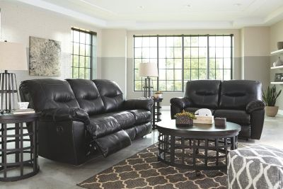Ashley Reclining faux leather sofa & Love-seat