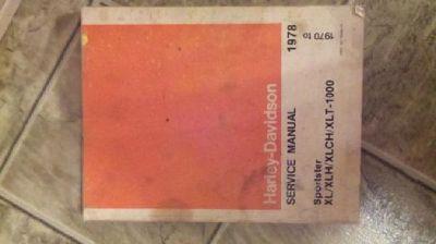 $20 Harley-Davidson service Manual 1978