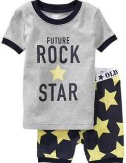 """New Size 2T Old Navy """"Future Rock Star"""" Pajamas"""