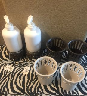 Candle holder and soap or lotion dispenser