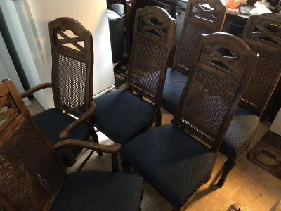 Heavy real wood chairs