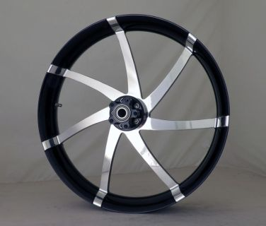 """Purchase 23"""" inch Custom Motorcycle 3D Black Contrast Wheel for Harley Davidson motorcycle in Anaheim, California, US, for US $1,950.00"""