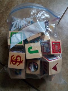 Wooden alphabet blocks with florida state blocks and more