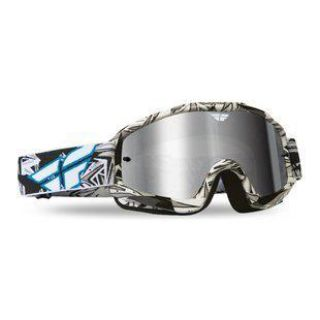 Find 2014 Fly Racing Zone Pro Goggles Black/White with Chrome Lens *Free Shipping* motorcycle in Coloma, Michigan, US, for US $27.95