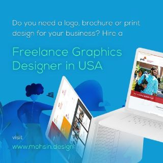 Freelance graphic designer in USA