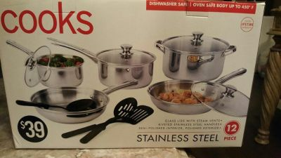 New Stainless Steel Pots