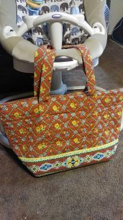 Quilted purse or beach bag or diaper bag
