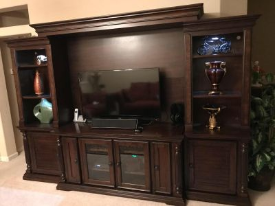 Key Town Entertainment Center 4 piece (by Ashley Furniture)