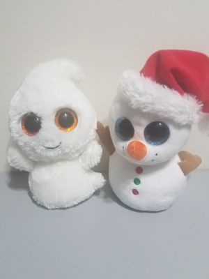 Ty collection ghost and snowman