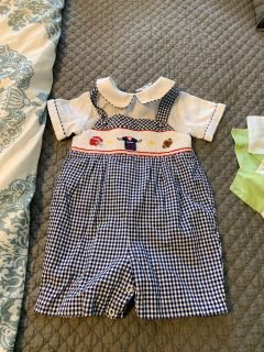 Smocked Football outfit