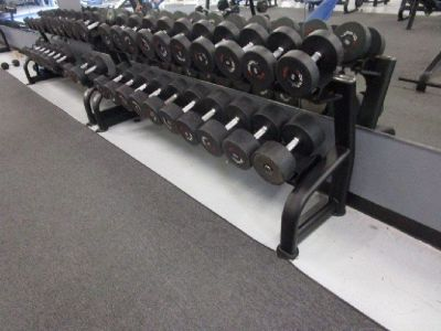 (3) Body Masters Dumbbell Racks w/Dumbbells RTR# 9023650-03