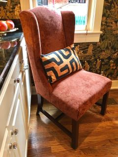 Restoration Hardware Chenille Accent Wing or Dining Chair