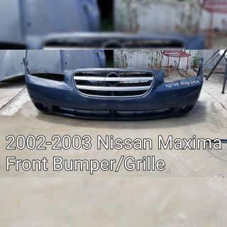 2002-2003 Nissan Maxima Front Bumper Cover and Grille (new aftermarket)