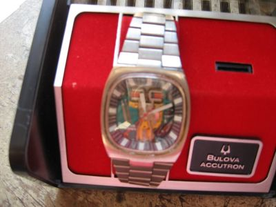 rare bulova accutron spaceview rare square model from the 70s