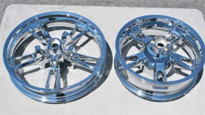 Sell 2014 2015 2016 Harley FLHX Street Glide Enforcer Chrome Wheels Rims Set motorcycle in Warminster, Pennsylvania, United States, for US $799.99