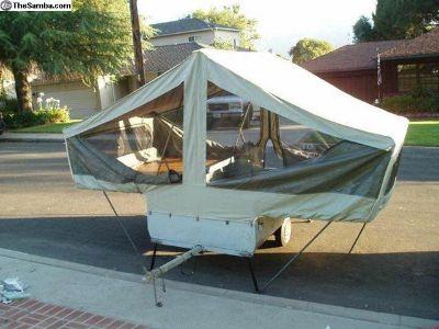 RARE Montgomery Ward Tent Trailer New Canvas Bus
