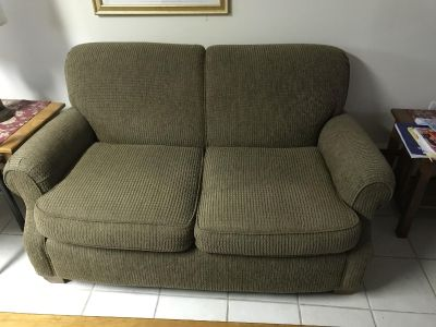 Love seat, ottoman and chair