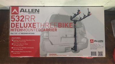 Brand New! 3 bike hitch mount carrier.