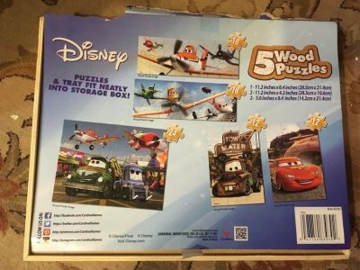 Disney Cars and planes 5 puzzle set