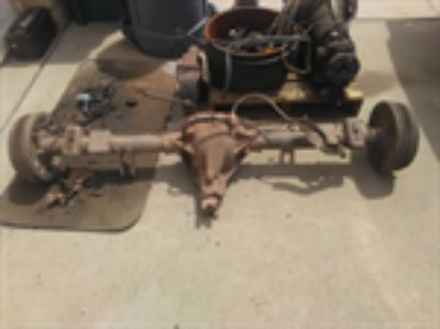 Parts For Sale: Chevy C 1500 loaded rear axle assembly 5 lug, 10 bolt, 3.73 with posi