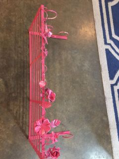 24 x 10 long metal shelf with roses and leaves $10