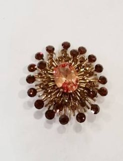 Pin - Brown and Beige Crystals
