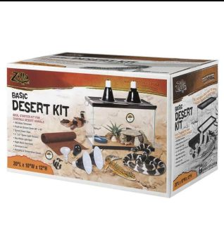Zilla 01312 10-Gallon Basic Desert Kit, 10-Inch by 20-Inch by 12-Inch
