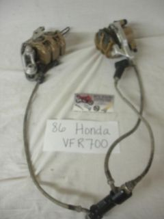 Find 86-87 Honda VFR-700 Front brakes calipers, complete. Good Used OEM motorcycle in Terrell, Texas, US, for US $89.95