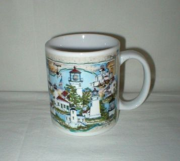 Great American Lighthouses  - Lights of Oregon Coffee Mug Cup - Donna Elias