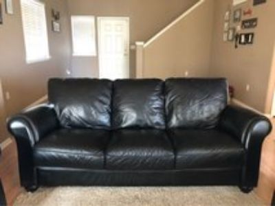 Leather Couch and Matching Chairs