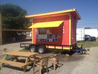 Snow cone stand and trailer