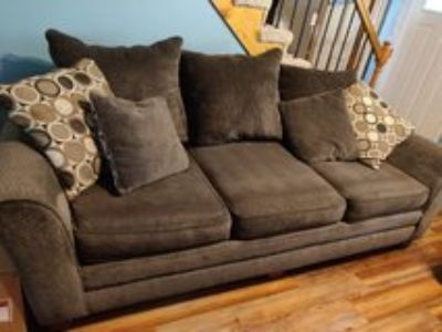 Oversized couch and loveseat with ottoman