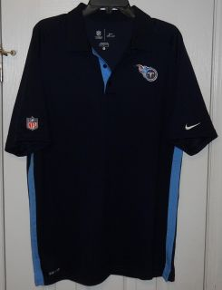 NIKE DRI-FIT ON FIELD TENNESSEE TITANS POLO SHIRT SIZE L NWOT