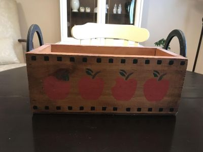 Decorative Solid Wood Box with Horseshoe Handles.