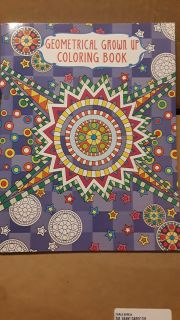 Adult geometrical coloring book