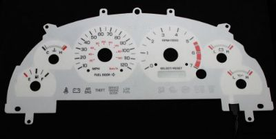 Purchase 120MPH Indiglo 6 Color White Face Dash Glow Gauge New For 99-01 Ford Mustang V6 motorcycle in Monterey Park, California, United States, for US $24.99