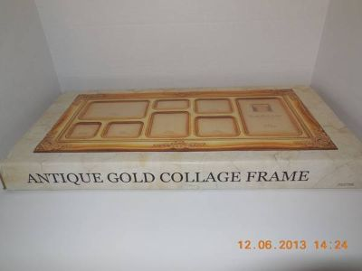 Antique gold collage frame