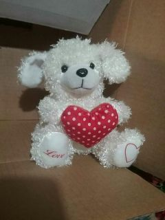 Puppy with Heart Plush