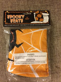 Spooky toilet seat cover brand new
