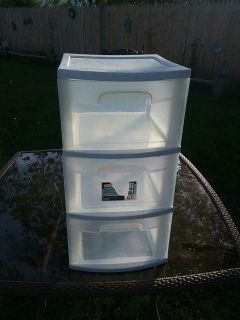 3 drawer plastic container