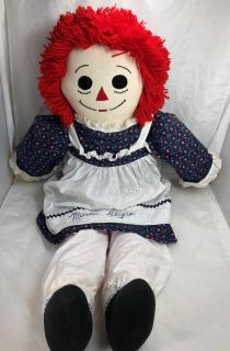 Raggedy Ann doll 37 inches Plushie Large Personalized or Named Marlie Alyce
