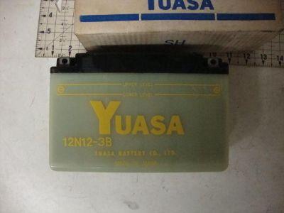 Find YUASA BATTERY 12N12-3B VINTAGE NOS OEM 12N123B HONDA YAMAHA KAWASAKI motorcycle in Shelbyville, Illinois, US, for US $49.99