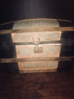 Antique Tinwork Trunk