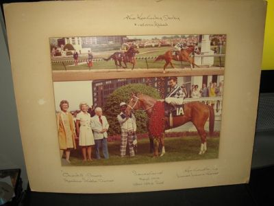 Picture of SECRETARIAT the winner of Kentucky Derby '73