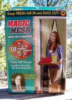 Magic Mesh Instant Screen Door - As See On TV