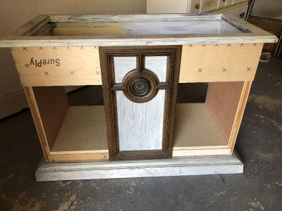unfinished project could be wine bar console table etc $30