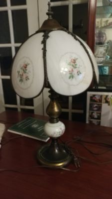 Two Floral Ceramic lamps